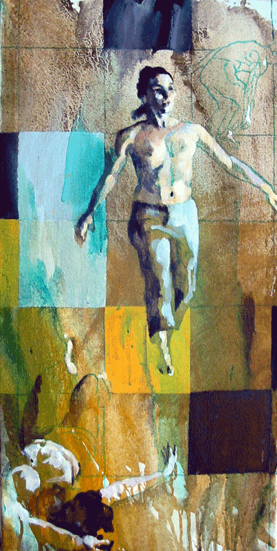 Acrylic study for my Prayssac Banner competition entry on the theme of dance