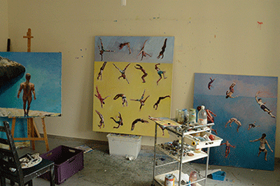 Diver paintings Studio